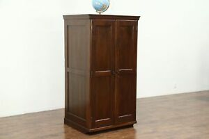Oak Antique 50 Drawer Lab Or Jewelry Cabinet Collector File Kewauneer 28739