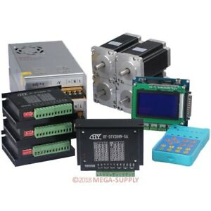 Cnc Kit 4 Axis Upgraded 3g Breakout Board Tb6600hg Controller 3 3nm Nema24 Motor