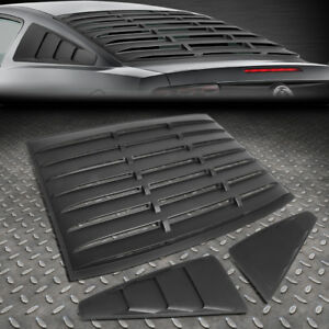 For 05 14 Ford Mustang Coupe Abs Vintage Style Rear Quarter Side Window Louvers