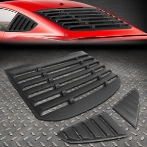 For 15 18 Ford Mustang Coupe Abs Vintage Style Rear Quarter Side Window Louvers