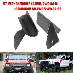 4 Lower Windshield Led Light Bar Mount Bracket For Jeep Cherokee Xj Comanche Mj