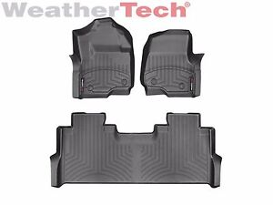 Weathertech Floor Mats Floorliner For Ford Super Duty Crew Cab 2017 2019 Black