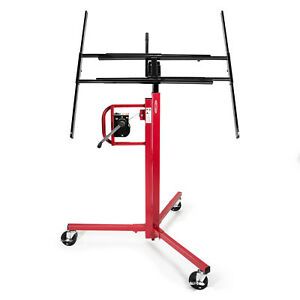 Drywall Panel Lifter Lift Jack Hanging Hoist 11 Red