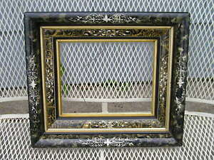 Antique Aesthetic Carved Marbled Eastlake Victorian Deep Picture Frame 8 X 10