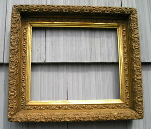 Antique Aesthetic Eastlake Victorian Deep Picture Frame 10 7 8 X 13 As Found Old