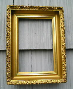 Antique Eastlake Victorian Deep Gold Picture Frame 6 X 9 For Small Painting