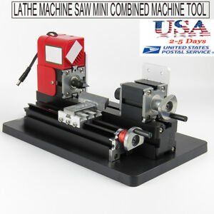 Usa Metal Wood Working Lathe Motorized Machine Diy Tool Metal 20000rpm min