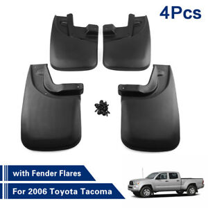 4pcs Front Rear Truck Mud Flaps Mudflaps With Flares For 2006 Toyota Tacoma