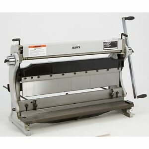 Klutch 3 in 1 Combination Sheet Metal Machine 30in w Capacity