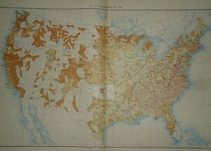 Vintage 1890 United States Map The Predominating Sex In The United States