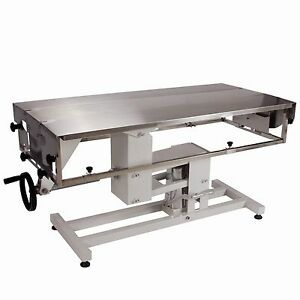 Veterinary Surgical Operating Table Ft 826 Manual Lift Adjustable Width V top