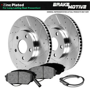 Front Drill Slot Brake Rotors Metallic Pads For Mercedes Benz S430 S500 W220