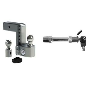 Weigh Safe 6 Drop Hitch For 2 5 Shaft Trimax 5 8 Key Receiver Lock Kit