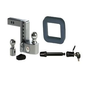 Weigh Safe 6 Drop Hitch For 2 Shaft Bw Hitches Silencer Pad Receiver Lock