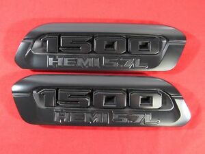 2019 Dodge Ram Black 1500 Hemi 5 7l Right Left Hood Bezel New Oem Mopar