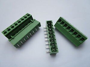 50 Pcs 5 08mm Close Angle 8pin Screw Terminal Block Connector Pluggable Type New