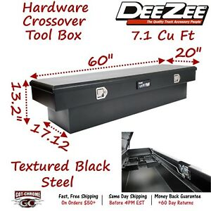 Dz8160sb Dee Zee Steel Crossover Truck Tool Box Hardware Series Black