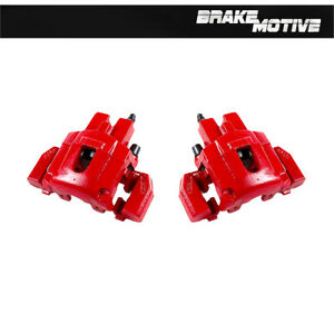 Rear Red Brake Calipers Pair 1999 2000 2001 2002 2003 2004 Jeep Grand Cherokee