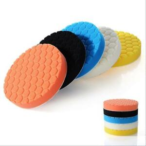 3 4 5 6 7inch Buffing Sponge Polishing Pad Kit Waxing Set 5pcs Car Auto Polisher