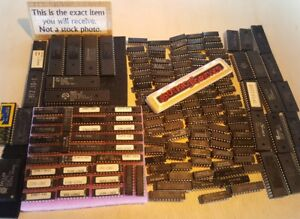 150 Pieces Mixed Used Ttl Pal Rom Eprom Micro controllers Dip Ic Chips Lot D