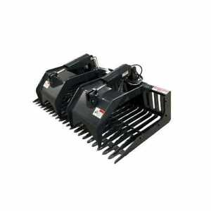 Stout Skid Steer Rock Grapple Bucket open End 72 Width