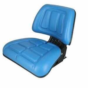 Seat Assembly Trapezoid Backed Vinyl Blue Compatible With Ford 3930 4630 4130