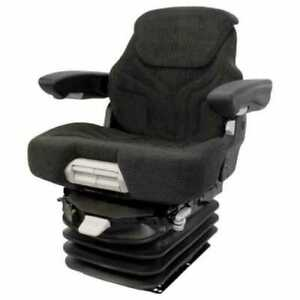Seat Assembly Air Suspension Fabric Black gray Allis Chalmers 7060 7020 7000