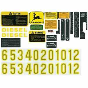 Decal Set John Deere 2510 3010 4010 4000 3020 4320 4520 4620 6030 4020 2520