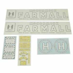 Vinyl Decal Set Farmall H International H