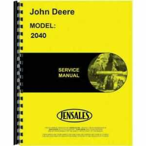 Service Manual 2040 2240 John Deere 2240 2040 Tm1221