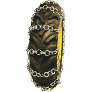 Tractor Tire Chains Double Ring 12 4 X 28 Sold In Pairs