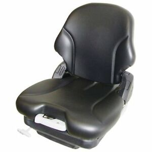 Seat Assembly Air Suspension Vinyl Black Compatible With Case John Deere