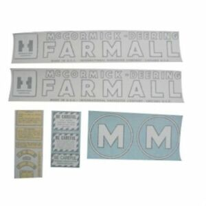 Vinyl Decal Set Mccormick deering Farmall M International M