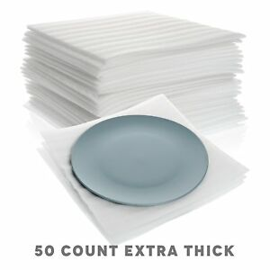 Extra Thick Cushion Foam Sheets 12 X 12 50 Count Packing Supplies For Moving