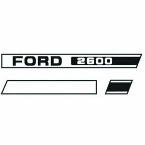 Decal Set Hood Only 2600 Ford 2600