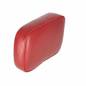 Backrest Vinyl Small Upper Red Color Tractor Oliver White Minneapolis Moline