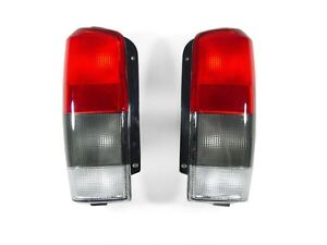 Depo Pair Of Red Smoke Rear Tail Lights For 1997 2001 Jeep Cherokee Xj