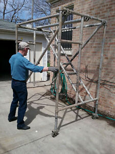 33 Upright Stairway Brand Aluminum Scaffolding Heavy Duty lightweight 6 Section