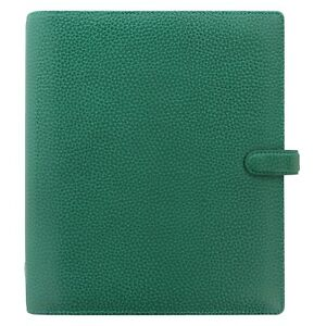 Filofax A5 Finsbury Leather Organizer planner Forest Green 025446 Brand New