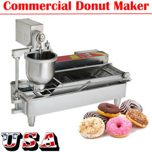 usa commercial Electric Automatic Doughnut Making Machine Donut Maker W 3 Molds