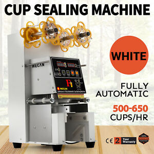 Electric Fully Automatic Bubble Tea Cup Sealing Machine 420w For Mall Cinema