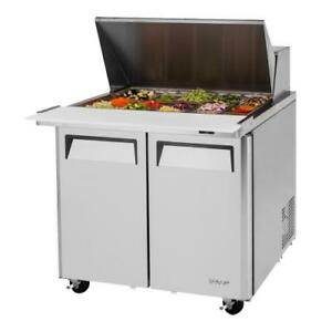 Turbo Air Mst 36 15 n6 M3 Series Mega Top 2 door 36 In Sandwich Prep Table