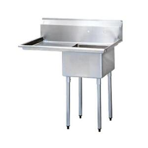 Turbo Air Tsa 1 14 l2 44 1 4 In One Compartment Sink W Left Drainboard