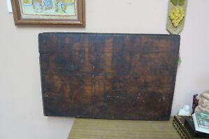 Antique Vintage Flemish Wood Burning Pyrography Picture Panel Plaque 19 X 29