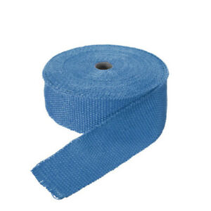 Blue 10m Fiberglass Wrap Exhaust Header Pipe Thermal Insulation Tape Roll Kit
