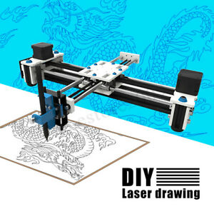 2 Axis Eleksmaker Mini Xy Cnc Pen Plotter Diy Laser Drawing Machine Printer Us