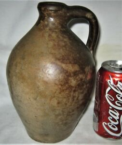 Rare 1 Qt Antique Country Primitive Usa Stoneware Whisky Still Jug Bottle