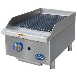 Globe Gcb15g sr 15 Radiant Gas Charbroiler Grill