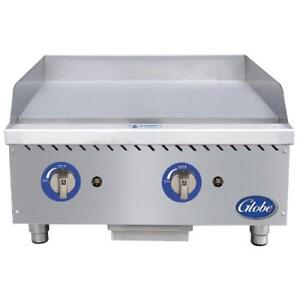 Globe Gg24g 24 Gas Griddle Flat Top Grill