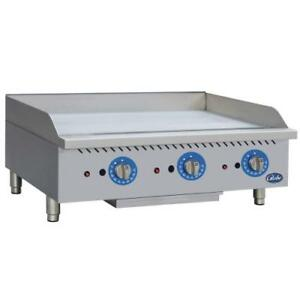 Globe Gg36tg 36 Thermostatic Gas Griddle Flat Top Grill